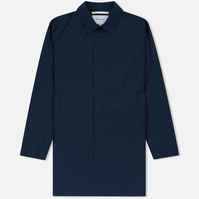 Мужской плащ Norse Projects Thor Crisp Cotton Navy