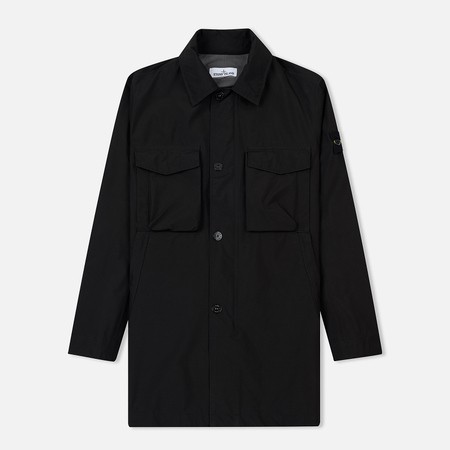 Мужской плащ Stone Island Packable Gore-Tex Black