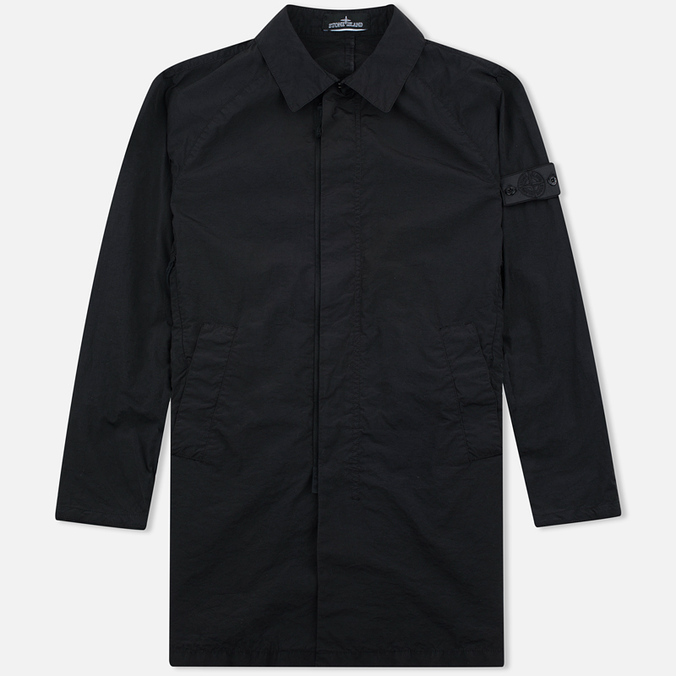 Мужской плащ Stone Island Shadow Project Tela Nylon Mac Black
