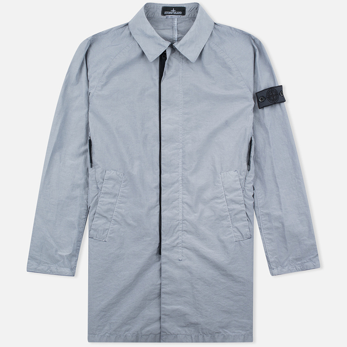 Мужской плащ Stone Island Shadow Project Tela Nylon Mac Grey