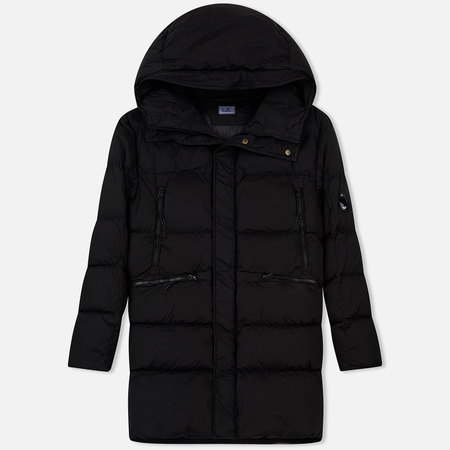 Мужской пуховик C.P. Company Nycra GD Lens Puffy Parka Long Black Coffee