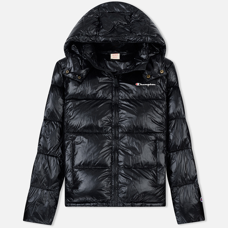 Мужской пуховик Champion Reverse Weave Padded Zip-Up Funnel Neck Hooded Black