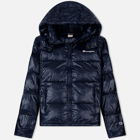 Мужской пуховик Champion Reverse Weave Padded Zip-Up Funnel Neck Hooded Navy