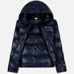 Мужской пуховик Champion Reverse Weave Padded Zip-Up Funnel Neck Hooded Navy фото- 1