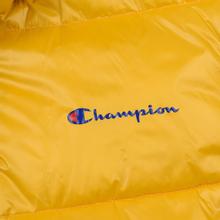 Мужской пуховик Champion Reverse Weave Padded Zip-Up Funnel Neck Hooded Yellow фото- 4