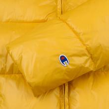 Мужской пуховик Champion Reverse Weave Padded Zip-Up Funnel Neck Hooded Yellow фото- 6