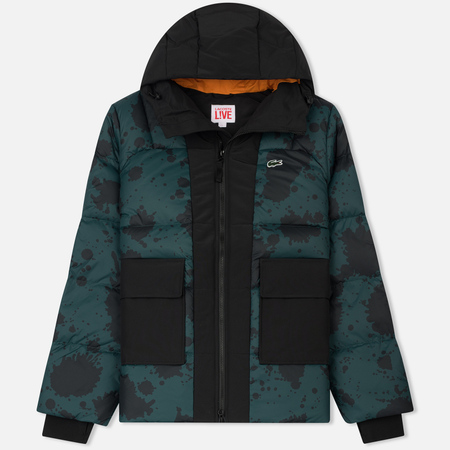 Мужской пуховик Lacoste Live Hooded Colorblock Quilted Box/Multicolour Black