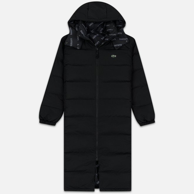 Мужской пуховик Lacoste Live Print Lining Long Reversible Black/Black/White