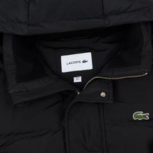 Мужской пуховик Lacoste Multiple Pockets Water-Resistant Hoodie Black фото- 1