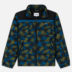Мужской пуховик Lacoste Sport Colourblock Water-Resistant Black/Blue/Khaki Green