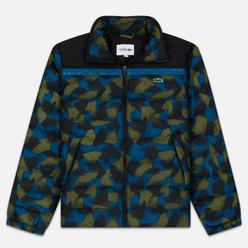 Мужской пуховик Lacoste Sport Colourblock Water-Resistant Black/Blue/Khaki Green