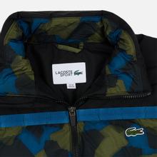 Мужской пуховик Lacoste Sport Colourblock Water-Resistant Black/Blue/Khaki Green фото- 1