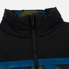 Мужской пуховик Lacoste Sport Colourblock Water-Resistant Black/Blue/Khaki Green фото- 3