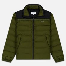 Мужской пуховик Lacoste Sport Colourblock Water-Resistant Black/Khaki Green фото- 0