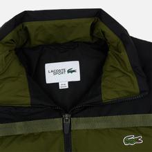 Мужской пуховик Lacoste Sport Colourblock Water-Resistant Black/Khaki Green фото- 1