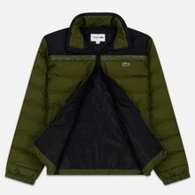 Мужской пуховик Lacoste Sport Colourblock Water-Resistant Black/Khaki Green фото- 2