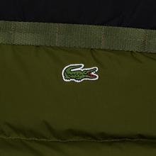 Мужской пуховик Lacoste Sport Colourblock Water-Resistant Black/Khaki Green фото- 4