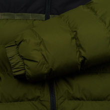 Мужской пуховик Lacoste Sport Colourblock Water-Resistant Black/Khaki Green фото- 6