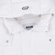 Мужской пуховик MSGM Cropped Down Hood White фото- 5