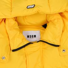 Мужской пуховик MSGM Cropped Down Hood Yellow фото- 3