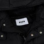 Мужской пуховик MSGM Logo Hood MSGM Black фото- 1
