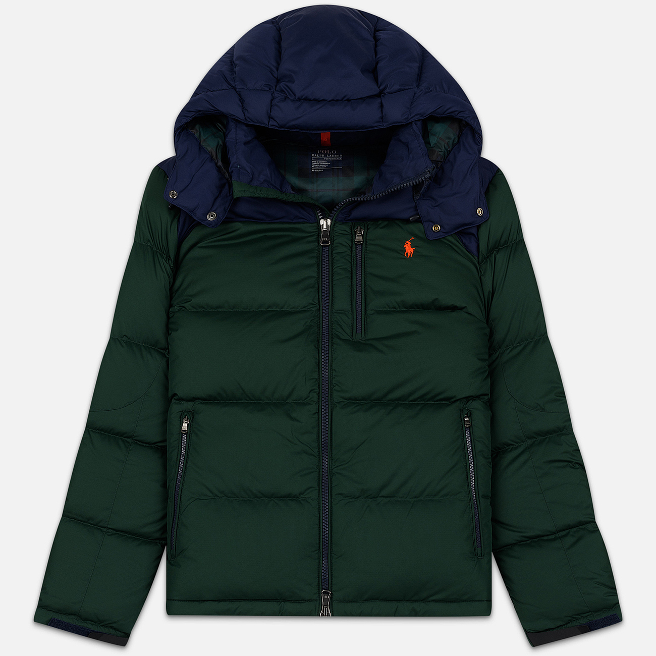 Мужской пуховик Polo Ralph Lauren El Cap Mid Weight Down College Green/Cruise Navy