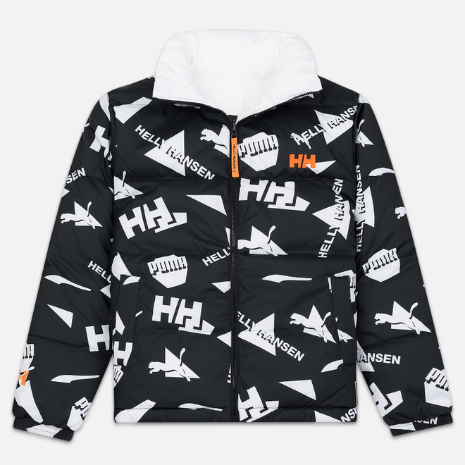 Мужской пуховик Puma x Helly Hansen Reversible Black/All Over Print Front