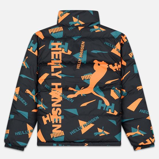 Мужской пуховик Puma x Helly Hansen Reversible Teal Green/All Over Print Front