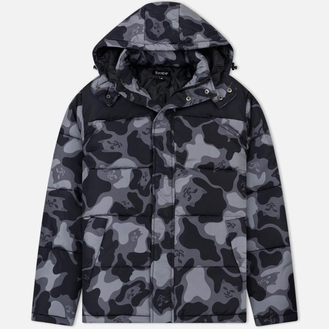Мужская куртка RIPNDIP Nerm Camo Puffer Blackout Camo