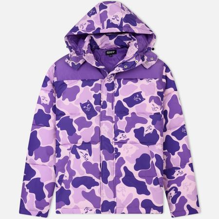 Мужская куртка RIPNDIP Nerm Camo Puffer Purple Camo