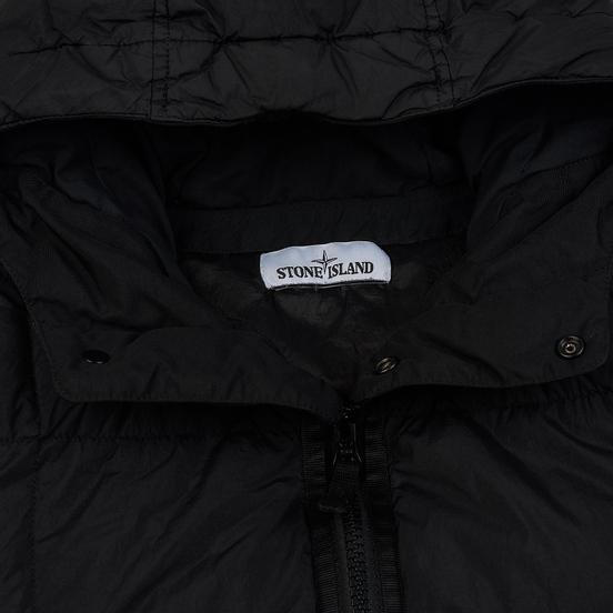 Мужской пуховик Stone Island Crinkle Reps Lightweight Nylon Down Black