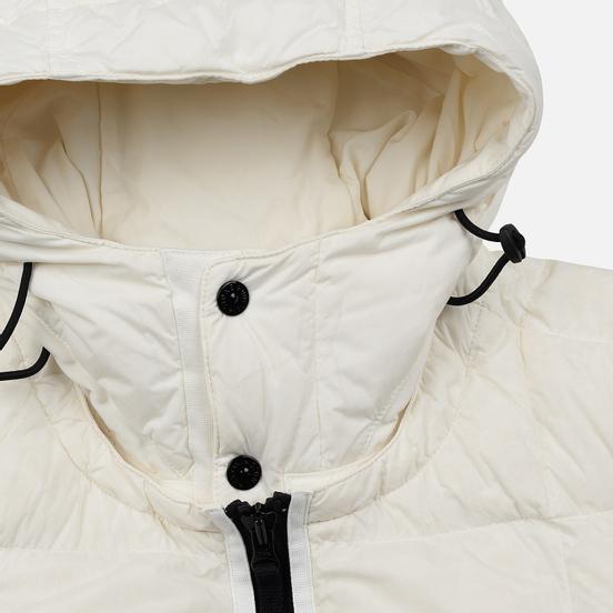 Мужской пуховик Stone Island Crinkle Reps Lightweight Nylon Down Natural White