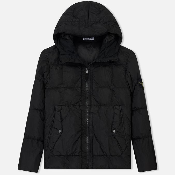 Мужской пуховик Stone Island Garment-Dyed Crinkle Reps Nylon Down Black