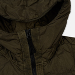 Мужской пуховик Stone Island Garment-Dyed Crinkle Reps Nylon Down Olive фото- 3