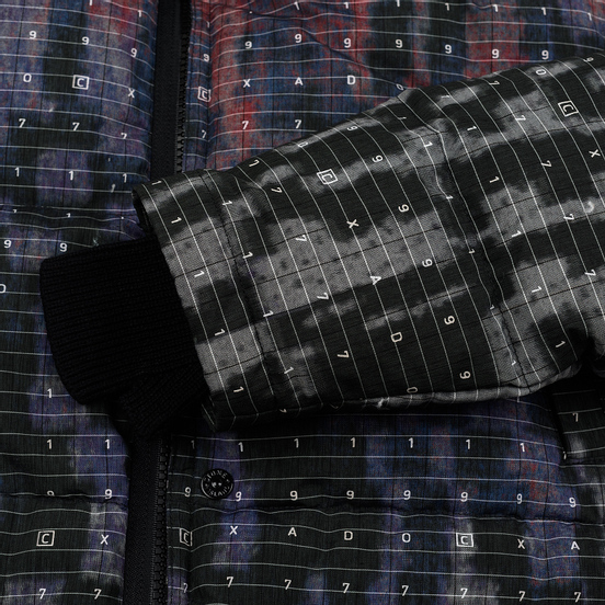 Мужской пуховик Stone Island Shadow Project DPM Chine Wool Long Black