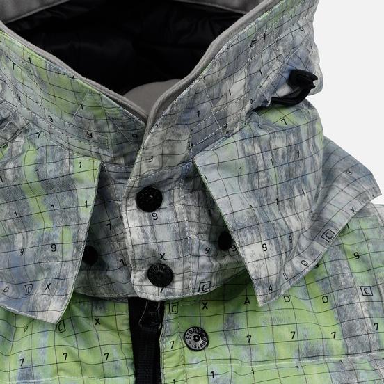 Мужской пуховик Stone Island Shadow Project DPM Chine Wool Long Pistachio