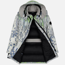 Мужской пуховик Stone Island Shadow Project DPM Chine Wool Long Pistachio фото- 2