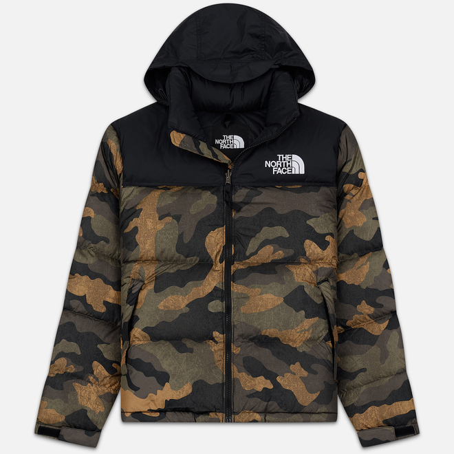 Мужской пуховик The North Face 1996 Retro Nuptse Burnt Olive/Camo Print