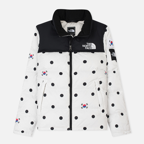 Мужской пуховик The North Face IC Nuptse Vapour Grey/Dot Print