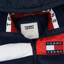Мужской пуховик Tommy Jeans Essential Colour-Blocked Recycled Padded Black Iris/Multi фото- 2