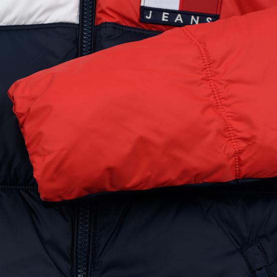 Мужской пуховик Tommy Jeans Essential Colour-Blocked Recycled Padded Black Iris/Multi
