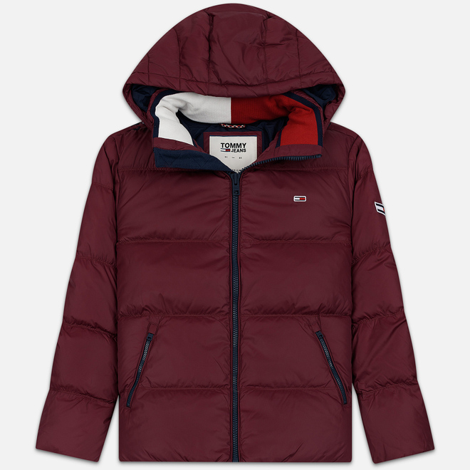 Мужской пуховик Tommy Jeans Essential Down Regular Fit Burgundy