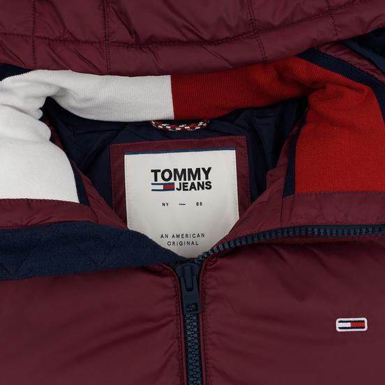 Мужской пуховик Tommy Jeans Essential Down Regular Fit Burgundy
