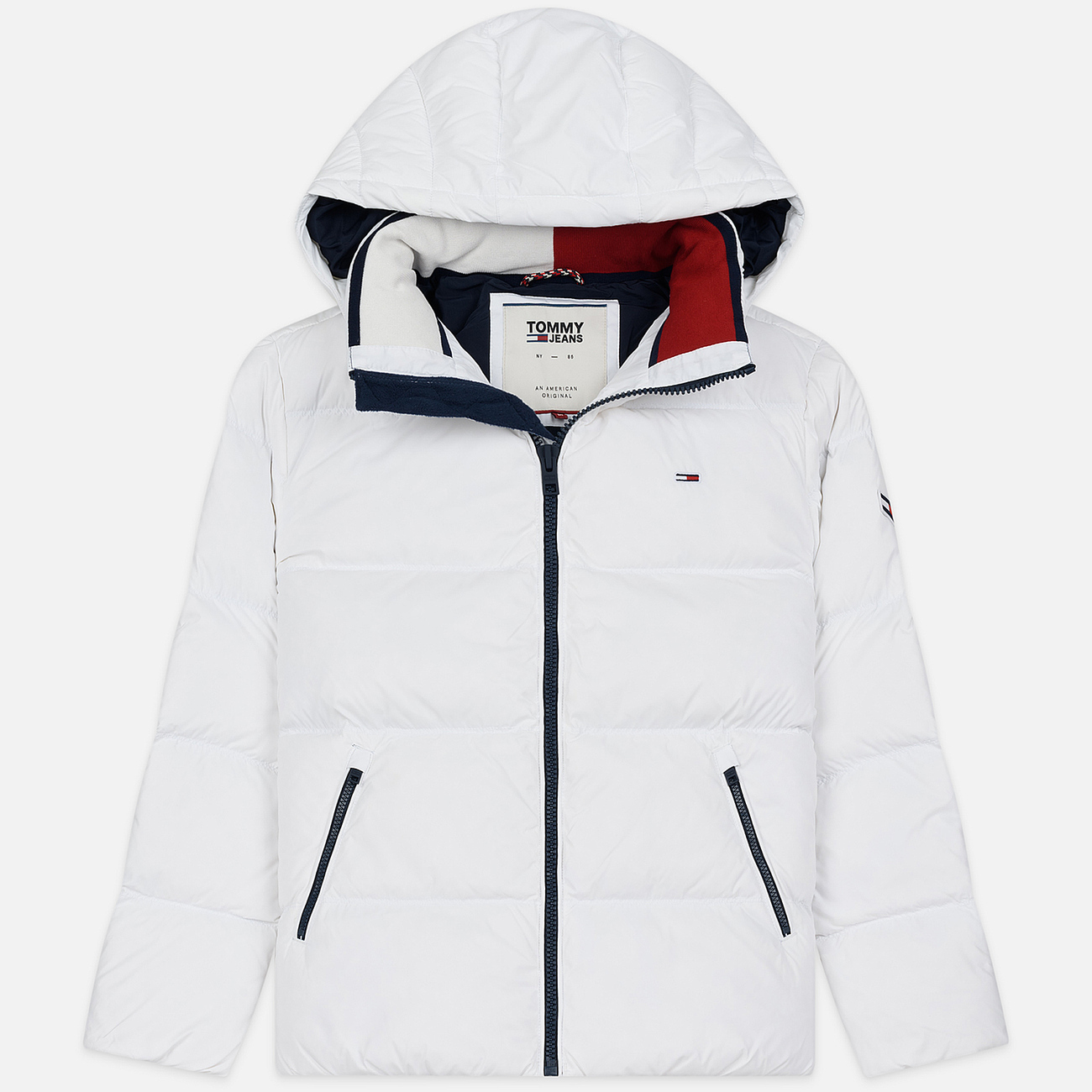 Мужской пуховик Tommy Jeans Essential Down Regular Fit Classic White
