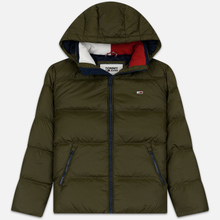Мужской пуховик Tommy Jeans Essential Down Regular Fit Forest Night фото- 0