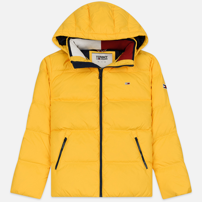 Мужской пуховик Tommy Jeans Essential Down Regular Fit Spectra Yellow
