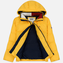 Мужской пуховик Tommy Jeans Essential Down Regular Fit Spectra Yellow фото- 1