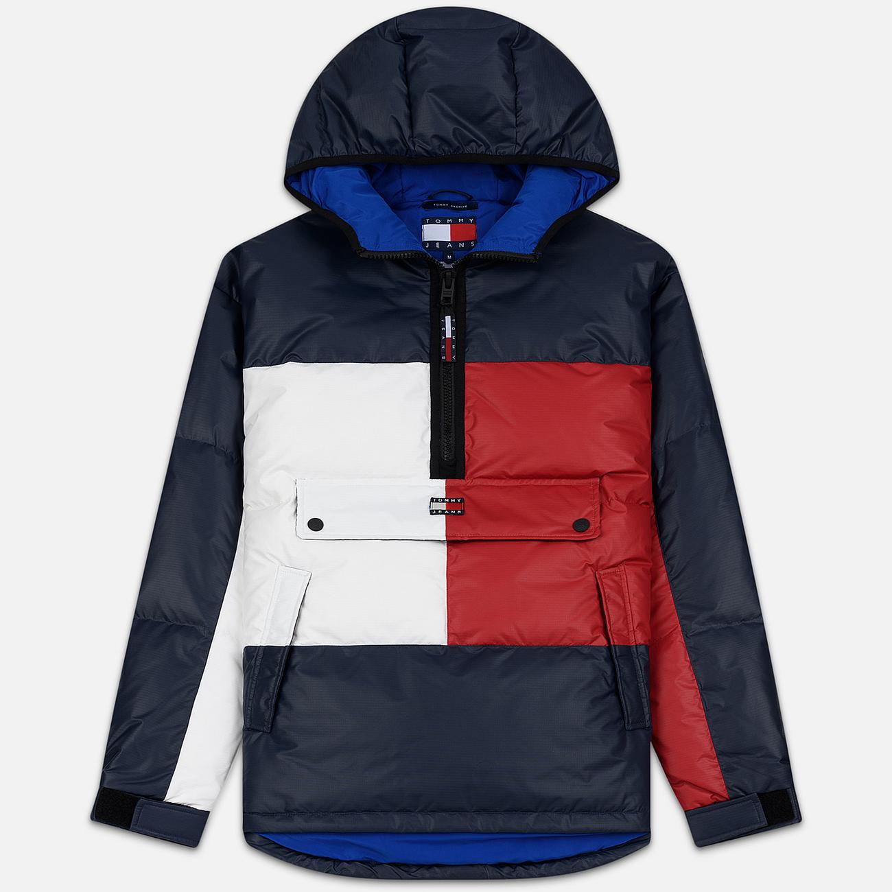 Мужской пуховик Tommy Jeans Flag Puffer Popover Navy Blazer/Multi