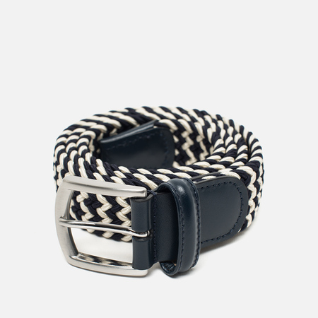 Anderson's Classic Woven Textile Multicolor Men's Belt Navy/White