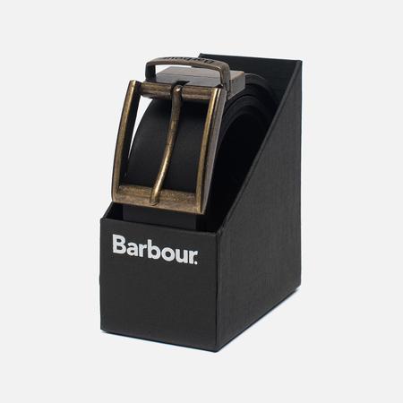 Мужской ремень Barbour Reversible Leather Gift Box Black